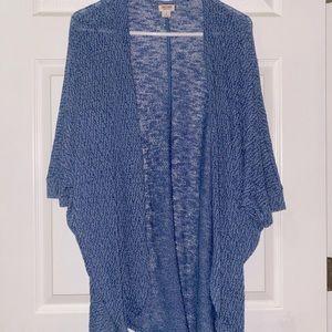 Target blue cardigan mid sleeve